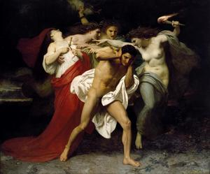 The Remorse of Orestes by William-Adolphe Bouguereau (1862)